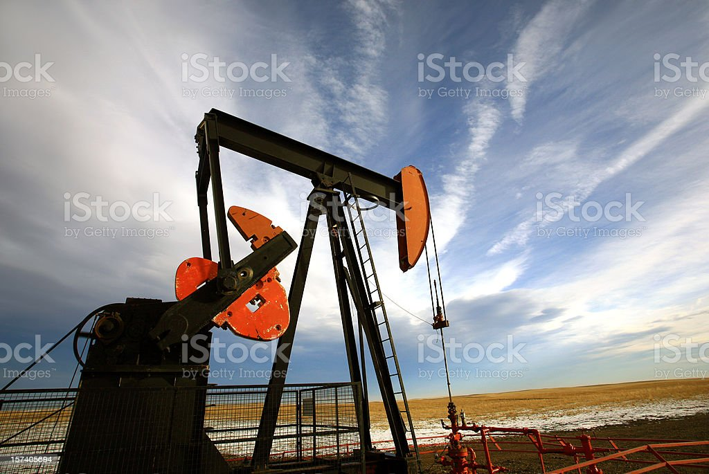 Pumpjack on the Plains royalty-free stock photo