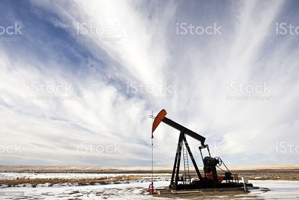 Pumpjack on the Prairie royalty-free stock photo