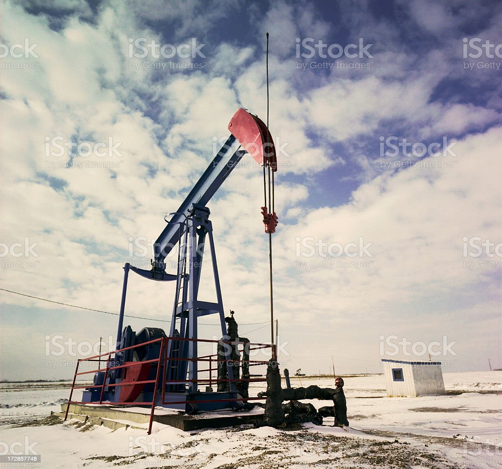 Pumpjack Powered by Electricity royalty-free stock photo