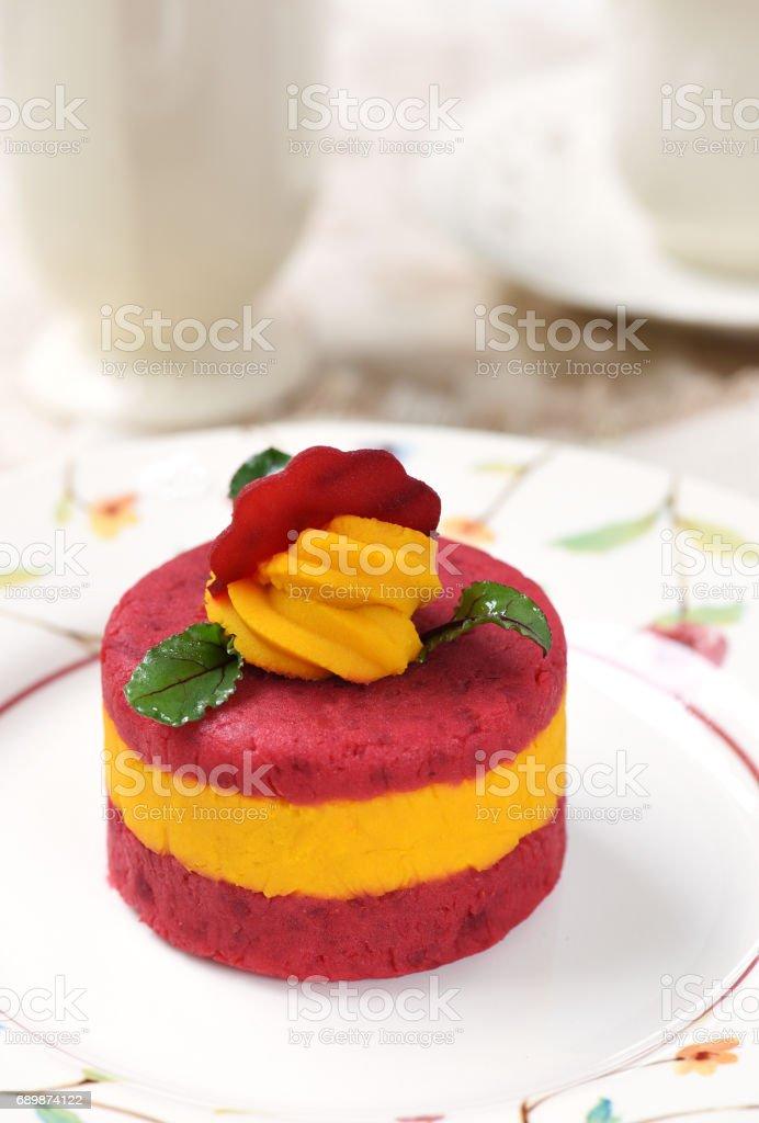 Pumpkin and Beetroot Salad stock photo