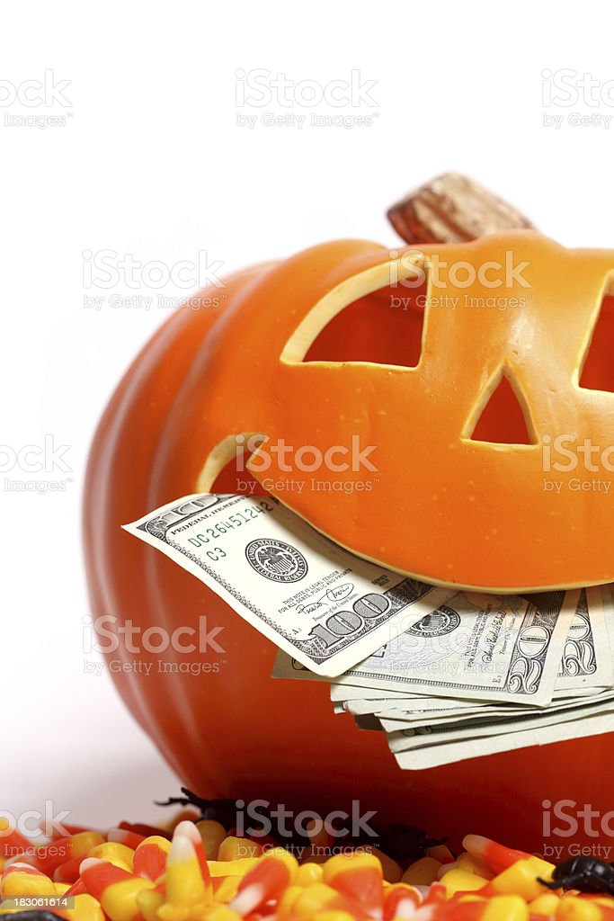 Pumpkin and corn candy royalty-free stock photo