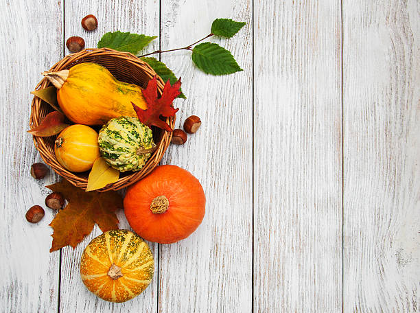 pumpkin and leaves - gourd stock photos and pictures
