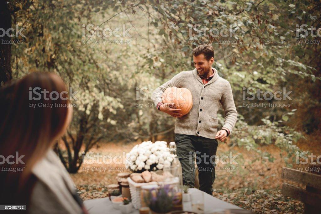 Pumpkin as an autumn goodie stock photo