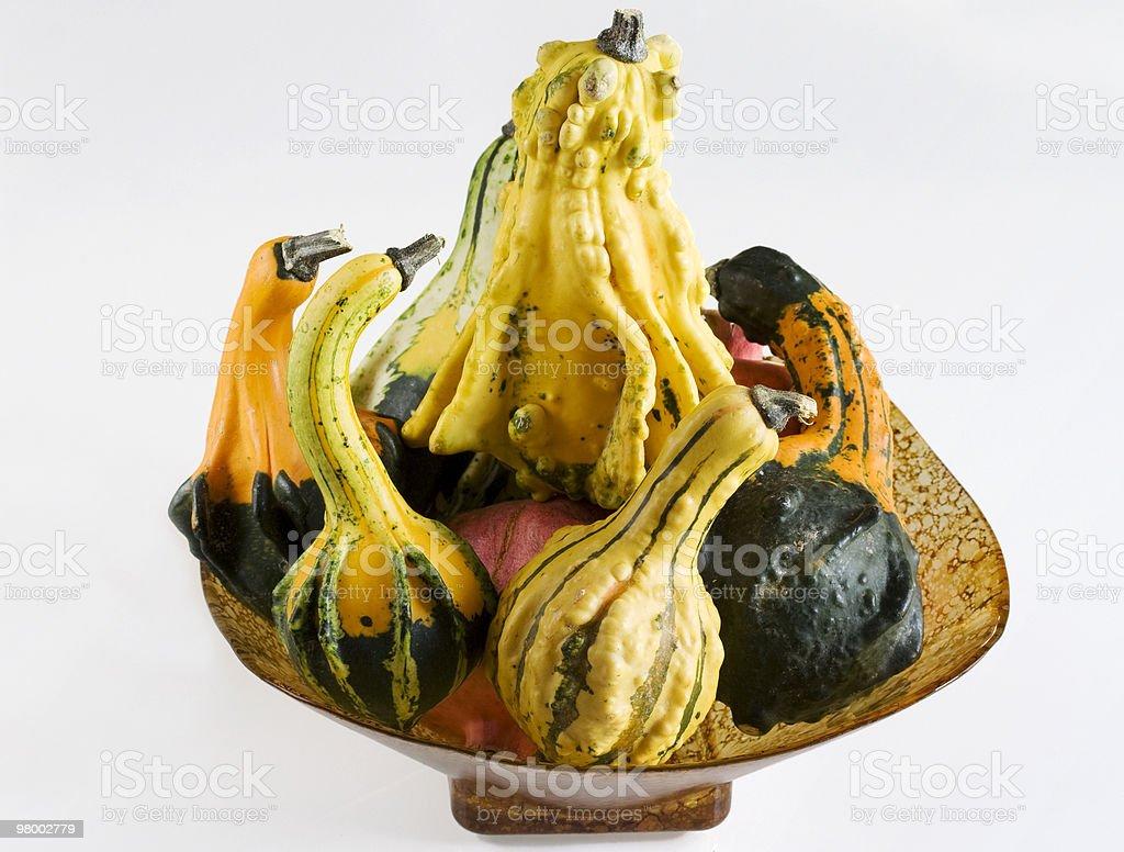 Pumpkin basket royalty free stockfoto