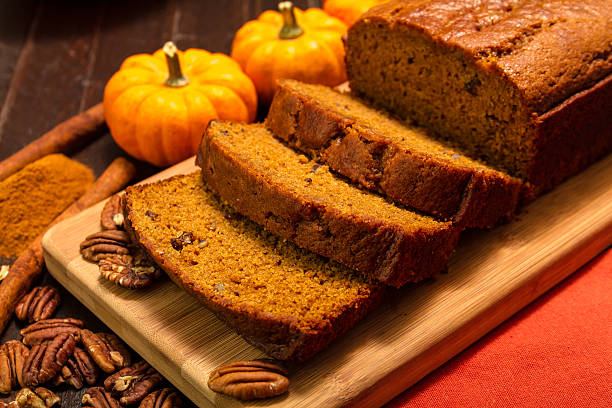 Pumpkin Bread stock photo