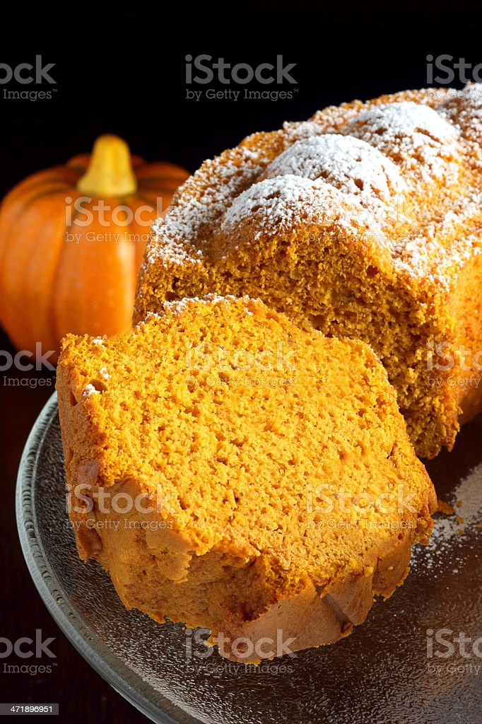 Pumpkin bundt cake stock photo