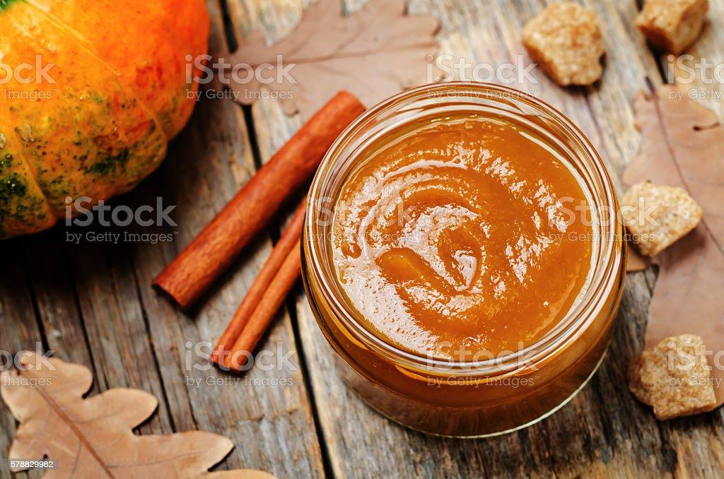 pumpkin butter stock photo