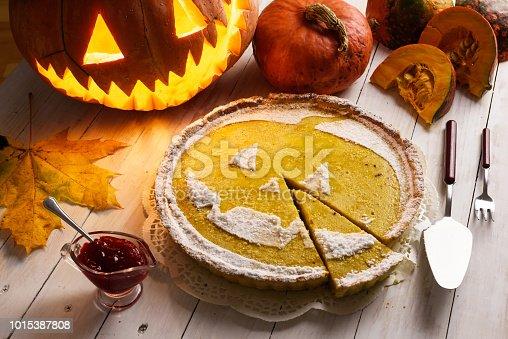 istock Pumpkin cake for Halloween 1015387808