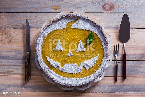istock Pumpkin cake for Halloween 1023097508