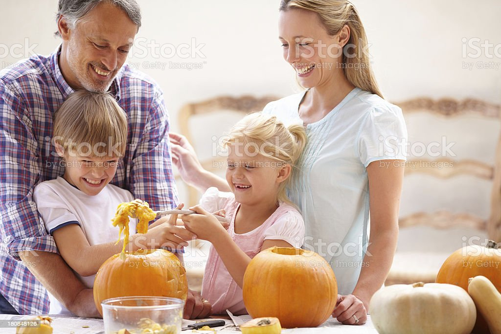 Pumpkin carving stock photo