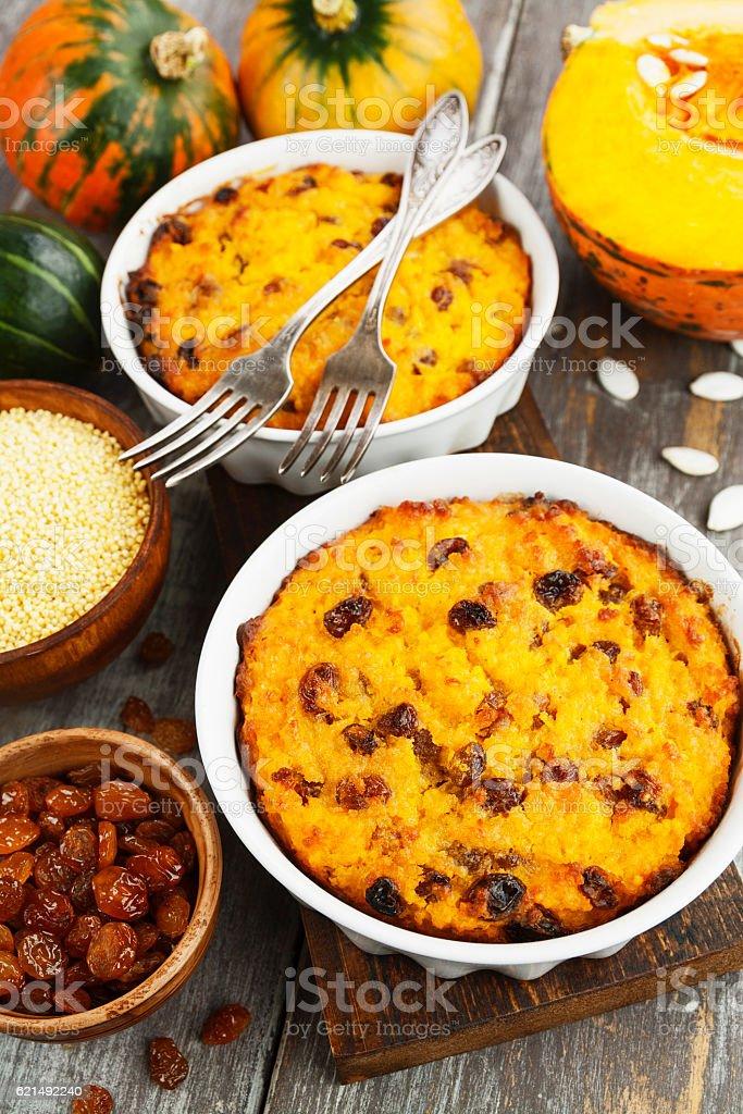 Pumpkin casserole with millet foto stock royalty-free