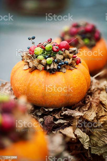 Pumpkin Decorations Stock Photo - Download Image Now