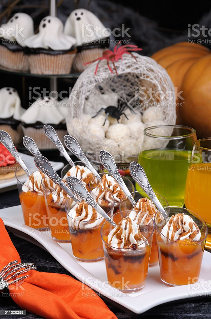 Pumpkin dessert stock photo