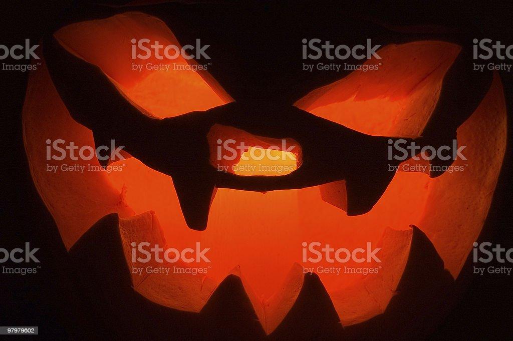 Pumpkin for Halloween royalty-free stock photo