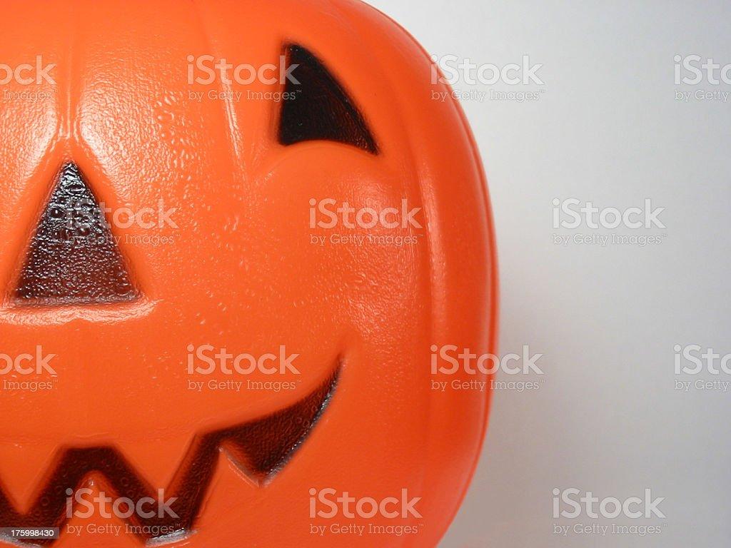 Pumpkin Half Face royalty-free stock photo