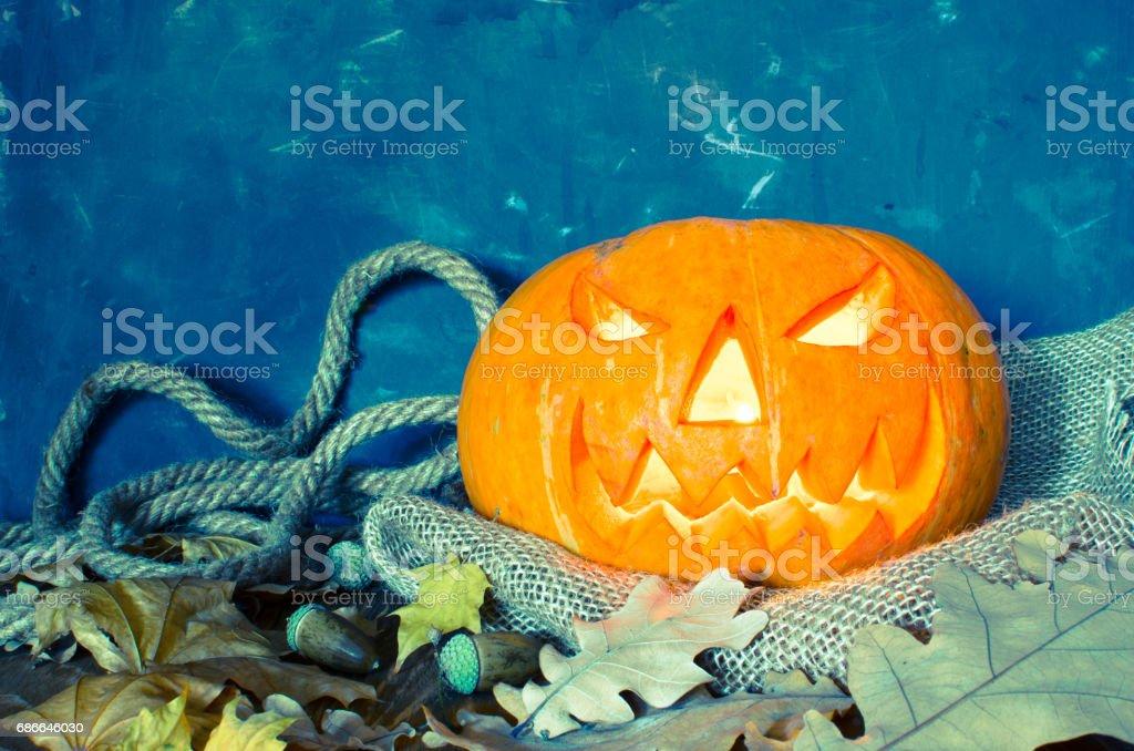 Pumpkin, Halloween symbol foto de stock libre de derechos