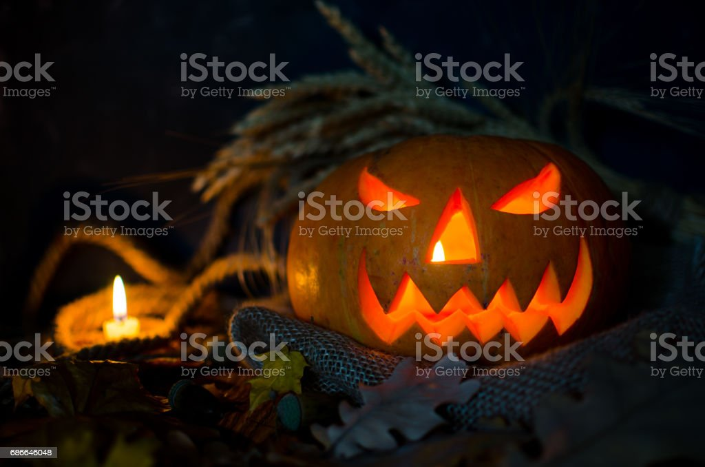 Pumpkin, Halloween symbol Lizenzfreies stock-foto