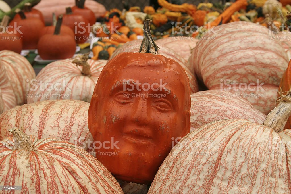 Pumpkin man royalty-free stock photo