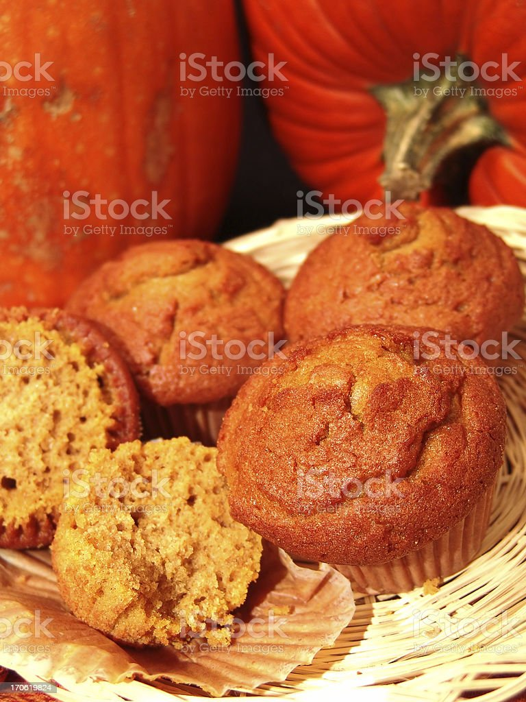 Pumpkin Muffins for Breakfast royalty-free stock photo