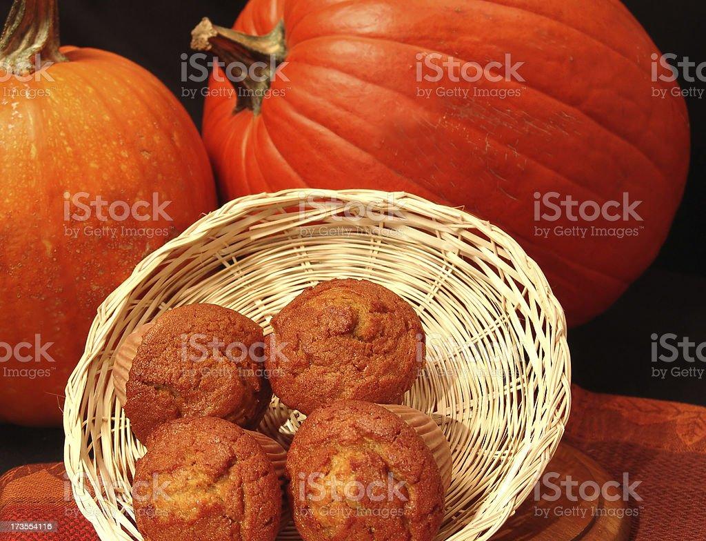 Pumpkin Muffins royalty-free stock photo