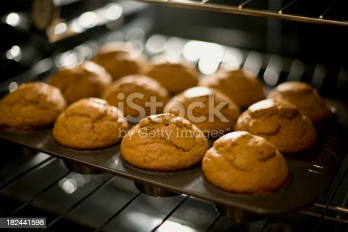 Pumpkin muffins just coming out of the oven