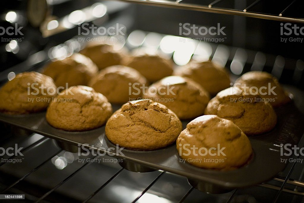 Pumpkin muffins stock photo