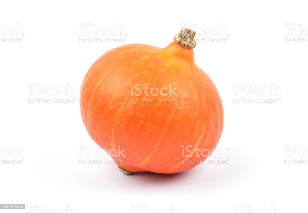 Pumpkin on white royalty-free stock photo