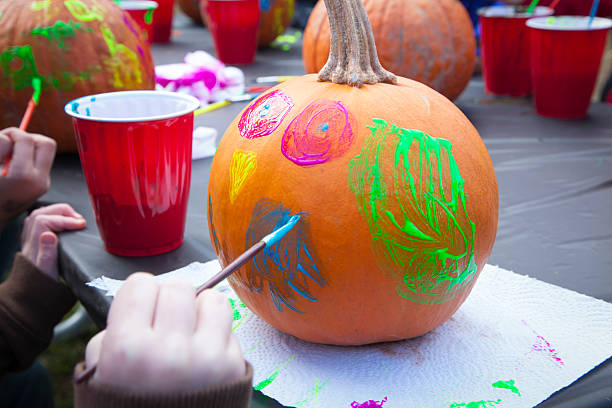 Pumpkin Painting stock photo