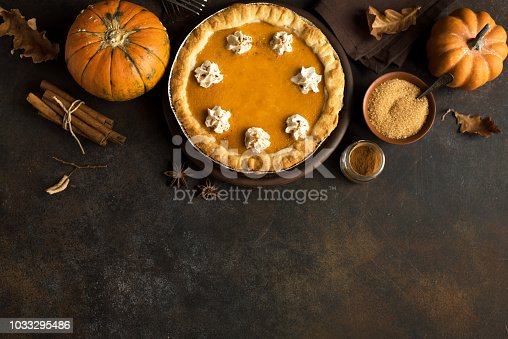 istock Pumpkin Pie for Thanksgiving 1033295486