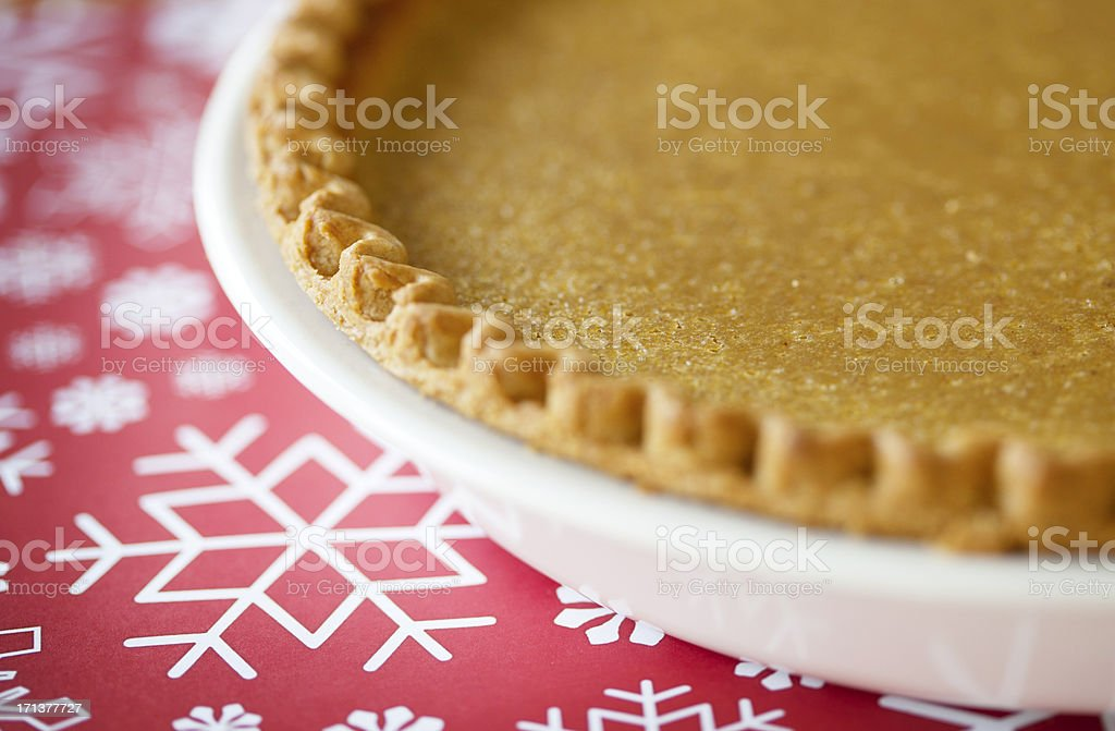 Pumpkin Pie for the Holidays stock photo