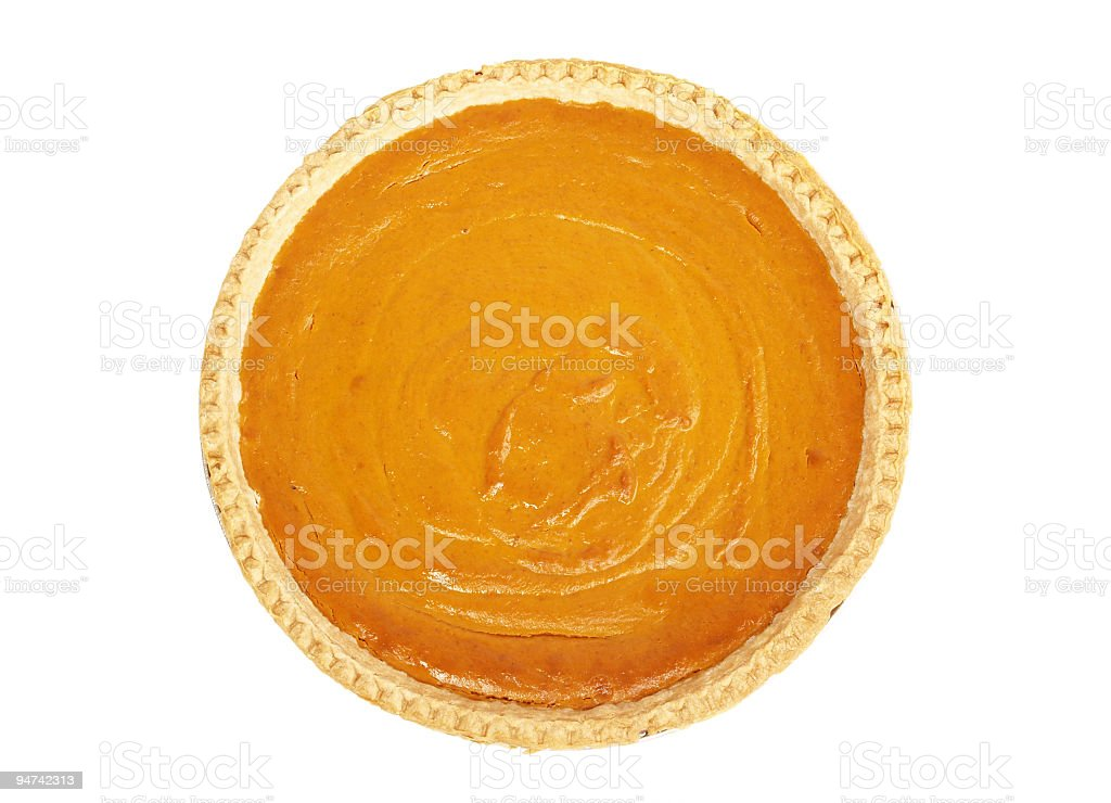 Pumpkin Pie from Above royalty-free stock photo