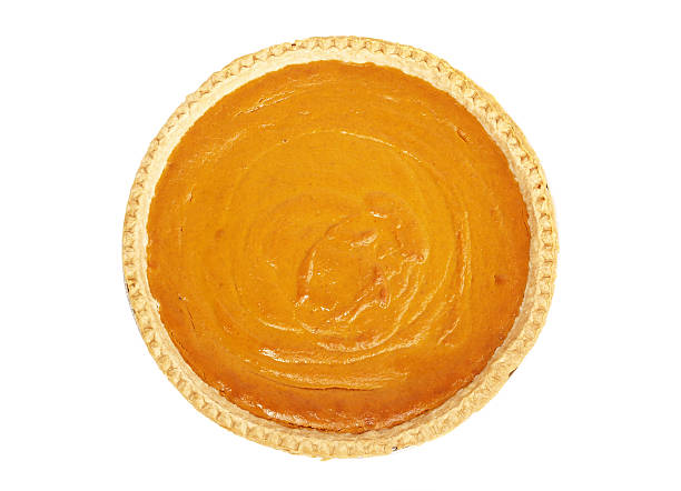 pumpkin pie from above - pumpkin pie 個照片及圖片檔
