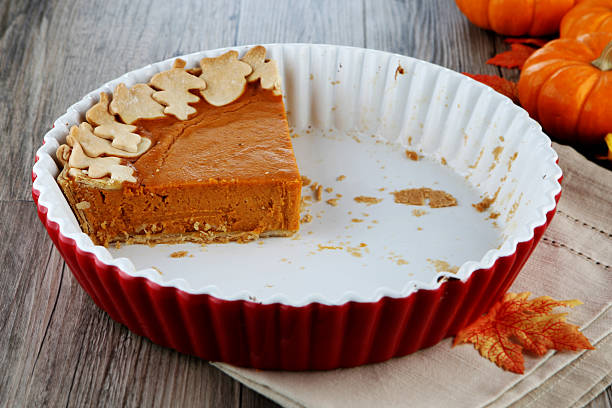 pumpkin pie pumpkin pie leftovers stock pictures, royalty-free photos & images