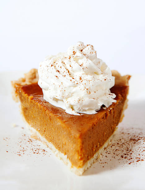 pumpkin pie slice - pumpkin pie 個照片及圖片檔