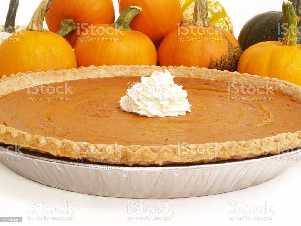 Pumpkin Pie Whole royalty-free stock photo
