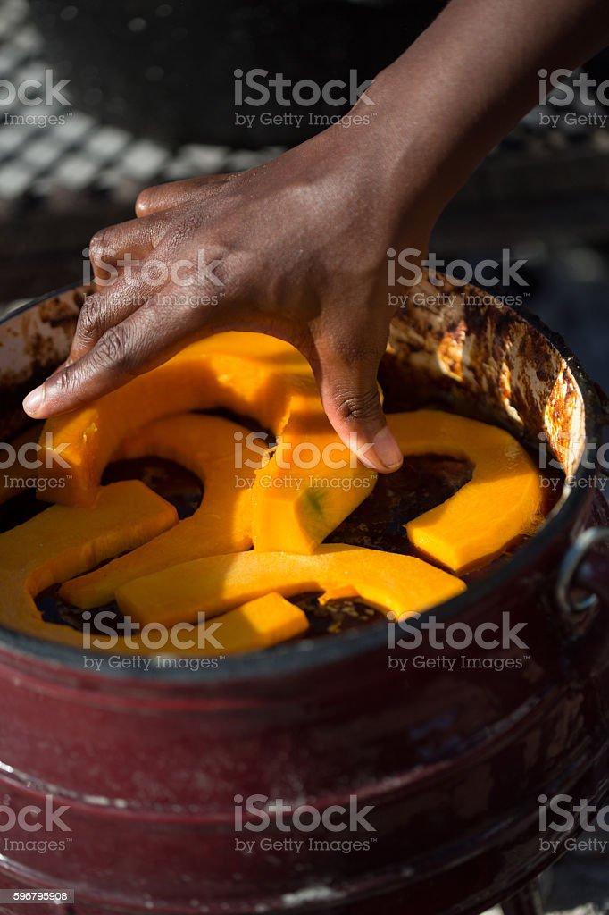 Pumpkin Pot stock photo
