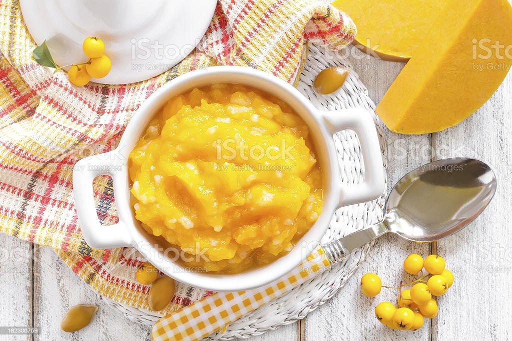 Pumpkin puree royalty-free stock photo