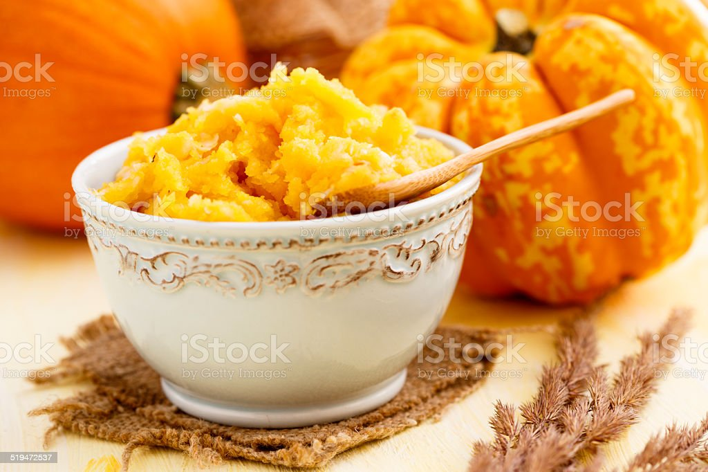 Pumpkin puree stock photo
