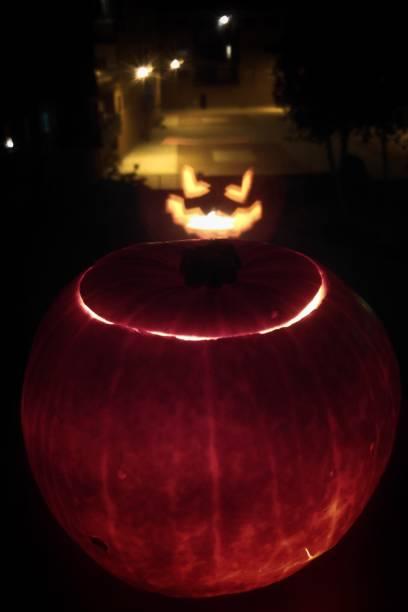 Pumpkin refections stock photo