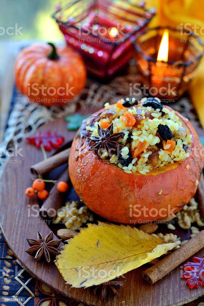 Pumpkin risotto royalty-free stock photo
