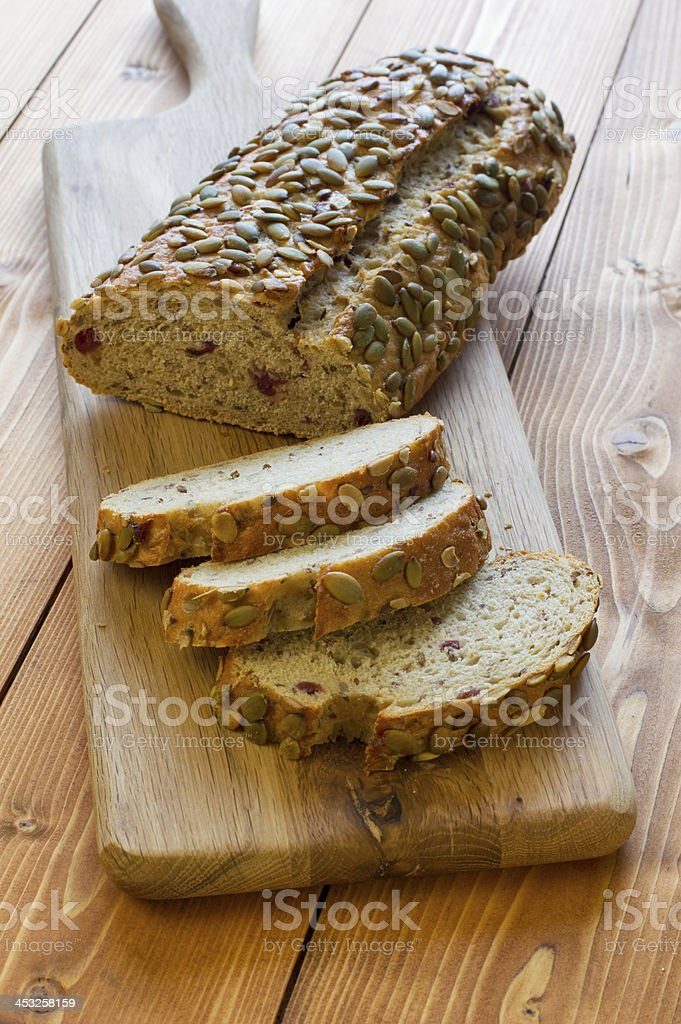 Pumpkin Seed and Cranberry Bread royalty-free stock photo
