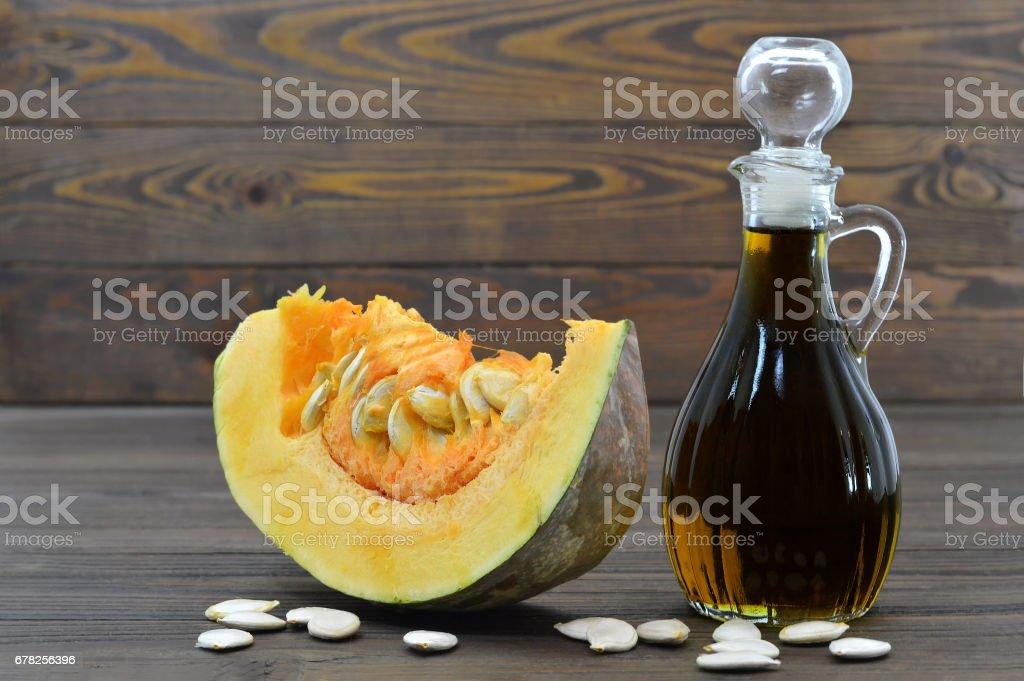 Pumpkin seed oil stock photo