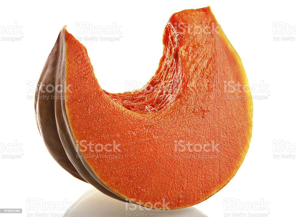 Pumpkin slice royalty-free stock photo