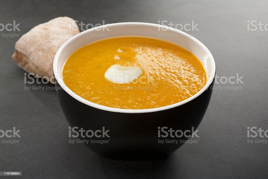 Pumpkin Soup Dark Background royalty-free stock photo