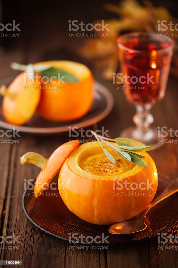 Pumpkin soup - Royalty-free Alcohol - Drink Stock Photo