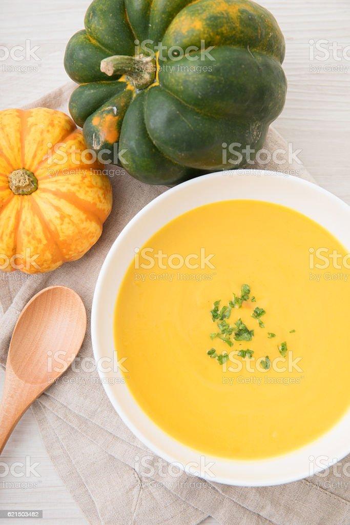 Soupe à la citrouille  photo libre de droits