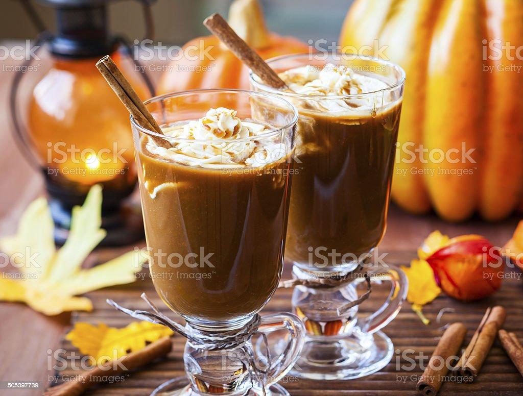 Pumpkin Spice Coffee stock photo