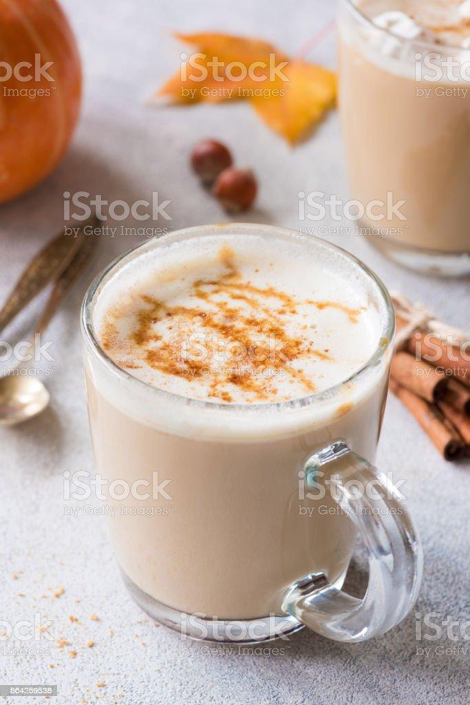 Pumpkin Spice Latte Autumn Hot Coffee Drink royalty-free stock photo