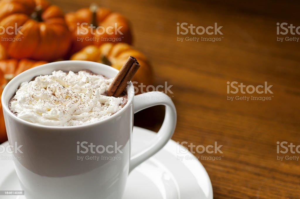 Pumpkin Spice Latte royalty-free stock photo