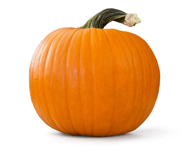 pumpkin with clipping path pumpkin with clipping path over white background pumpkin stock pictures, royalty-free photos & images